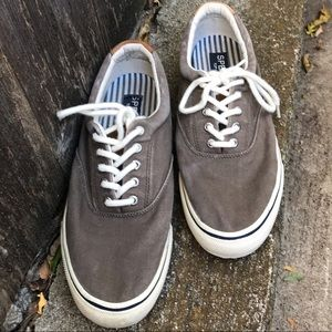 Sperry Taupe Sneakers Men-9.5 Very Good Condition